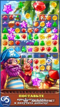 Pirates & Pearls: Собери сокровища в ряд!