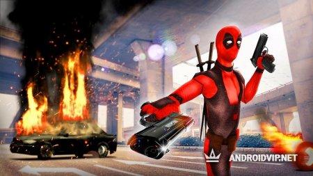 Dead Superhero: comics action game in Crime City