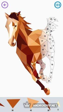 Цвет по количеству - многоугольник